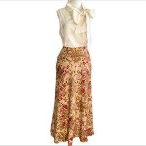 Banana Republic, Silk, Oriental Print Skirt
